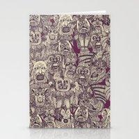 gargoyles purple Stationery Cards