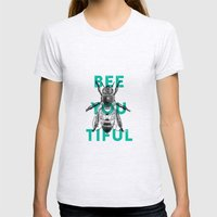 Bee-you-tiful Womens Fitted Tee Ash Grey SMALL