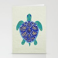 turtle Stationery Cards featuring Sea Turtle by Cat Coquillette