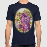 GRAPES Mens Fitted Tee Navy SMALL