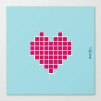 Pixelated Heart Canvas Print
