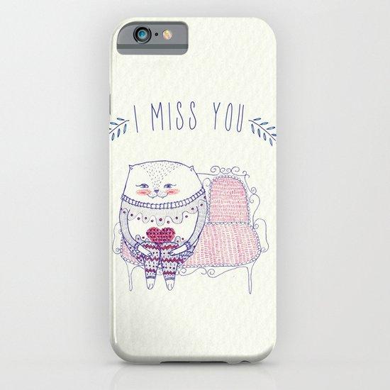 waiting cat iPhone & iPod Case