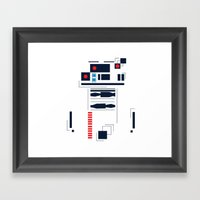 R2D2 Abstract Framed Art Print