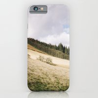 Trees on a sunlit hillside. Upper Derwent Valley, Derbyshire, UK. iPhone 6 Slim Case