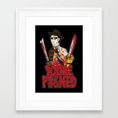Slasher Mash (NSFW) Framed Art Print