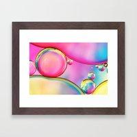 Rainbow And Oil Framed Art Print