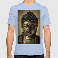 Meditation Mens Fitted Tee Tri-Blue SMALL
