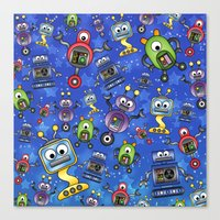 Little Robots  Canvas Print