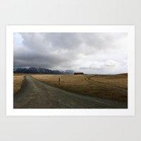 Amazing Landscape in Iceland Art Print