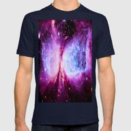 A Star Is Born Nebula Mens Fitted Tee Navy SMALL