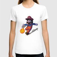 mario T-shirts featuring Mario by DROIDMONKEY