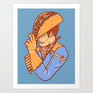 Taco Cowboy Art Print