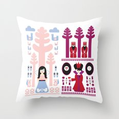 Good vs Evil: Snow White and the Evil Queen Throw Pillow