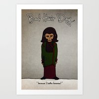 Bad Hair Day No:1 / Plan… Art Print