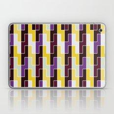 Purple & yellow rectangle pattern Laptop & iPad Skin