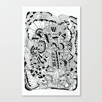 What hides a caress Canvas Print