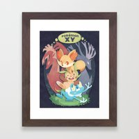 Pokemon X & Y Framed Art Print