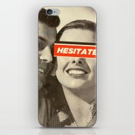 iPhone & iPod Skin featuring Hesitate by Frank Moth