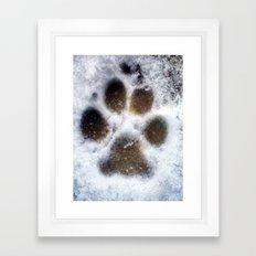 set in snow. Framed Art Print