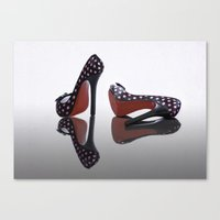 Canvas Print featuring Shoes, Glorious Shoes by Fran Walding