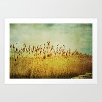 Winter Gold Art Print