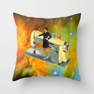 Barbara's Spaceship Throw Pillow