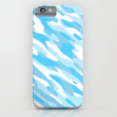 Blue and white Camo anstract Slim Case iPhone 6s