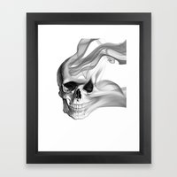 Smokin Skull Framed Art Print