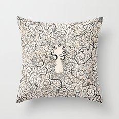 Parchment Secret Throw Pillow