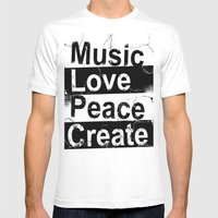 MLPC Grunge Mens Fitted Tee White SMALL