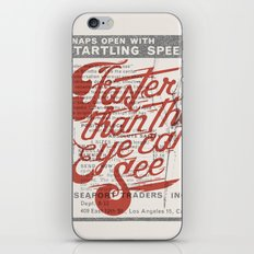 Faster than the eye can see iPhone & iPod Skin