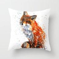 Throw Pillow featuring FOX by KOSTART