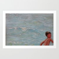 Chasing Waves Art Print