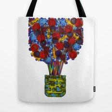 Geometric Flowers Tote Bag