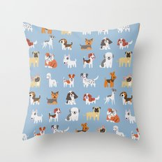 ENGLISH DOGS Throw Pillow