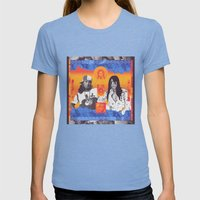 Granma's Gut Tonic Womens Fitted Tee Tri-Blue SMALL