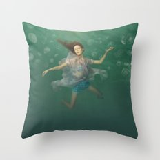 Dancing With Jellyfish Throw Pillow