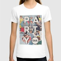 party Womens Fitted Tee White SMALL