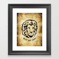 Lannister Lion Framed Art Print