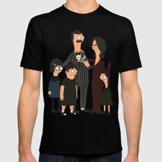 Addams Family Burgers Mens Fitted Tee Black SMALL