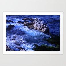 landscape with ocean Art Print
