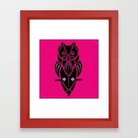 Owl - Simple Design - PI… Framed Art Print