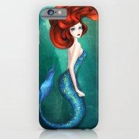 mermaid iPhone & iPod Cases featuring Mermaid by Annya Kai
