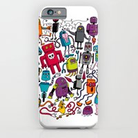 iPhone & iPod Case featuring Robots 2 by Chris Piascik