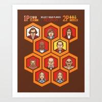 8 Bit Shining Art Print
