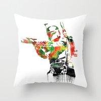 Boba Fett Print Throw Pillow