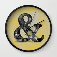 Ampersand Series - Baskerville Typeface Wall Clock