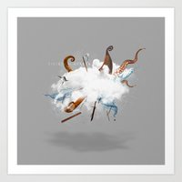 Dust-Ups: Viking Vs Krak… Art Print