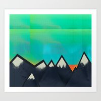 Mountain Top Sunset Art Print