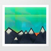 Mountain Top Sunset Art Print